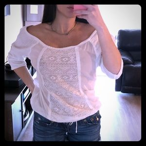 White Roxy top
